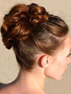 Image Detail for - ... Wedding Hairstyles : High Bun Updos | Updos for medium length hair