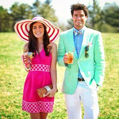 Join Us in Creating the Perfect Kentucky Derby Party! What to Wear: Sarah Vickers of 'Classy Girls Wear Pearls' and Kiel James Patrick, Preppy accessory guru are going to the Derby via Johnston vines ! Preppy Mode, Preppy Style, Kentucky Derby Fashion, Kentucky Derby Mens Attire, Derby Attire, Estilo Preppy, Bae, Preppy Southern, Southern Style