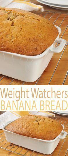 Weight Watcher Desserts, Weight Watcher Banana Bread, Plats Weight Watchers, Weight Watchers Breakfast, Weight Watcher Dinners, Ww Recipes, Low Calorie Recipes, Light Recipes, Healthy Recipes