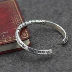 Fine Silver Handmade Bold Cuff Bracelet - Jewelry1000.com