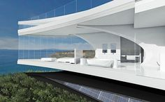 Half Moon Shaped House: Ocean Home Wedge View ~ exool.com Architecture Inspiration