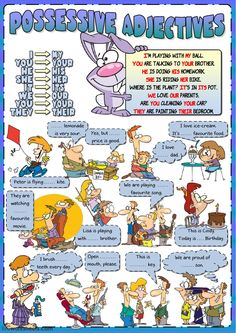 Possessive adjectives online worksheet and pdf. You can do the exercises online or download the worksheet as pdf.