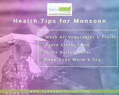#HealthTips: Be healthy in this #Monsoon season! Here are few tips to prevent rainy season illness.