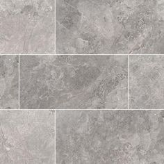 Just as its name implies, our Tundra Gray marble brings to mind wide-open frozen expanses with its clouded grays and pewters, marked with frosty creams and gunmetal. 3d Texture, Tiles Texture, Stone Texture, Marble Texture, Brick And Stone, Grey Stone, Floor Patterns, Tile Patterns, Grey Marble Tile