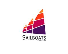 Sailboats Logo design - Minimalist, clean, modern and unique logo design to represent your company. <br /><br />I am more than happy to revise this logo and text to meet your specific needs.<br />Feel free to message me with questions. Price $430.00