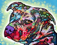 If I ever get a tattoo of Layla, it will be in the style of Dean Russo.... Gorgeous pit bull art