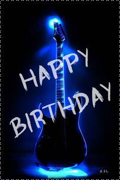 Popular Ideas For Happy Birthday Men Guitar Happy Birthday Guitar, Happy Birthday Black, Funny Happy Birthday Wishes, Friend Birthday Quotes, Birthday Cheers, Cute Birthday Gift, Birthday Posts, Happy Birthday Images, Happy Birthday Greetings
