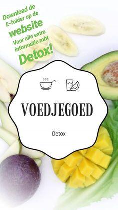Voor alle extra informatie mbt de detox download de e-folder op de website Detox, Website, Fruit, Breakfast, Food, Morning Coffee, Eten, Meals, Morning Breakfast