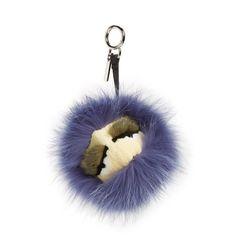Fendi 'Beak' Genuine Fox, Mink & Rabbit Fur Bag Charm ($800) ❤ liked on Polyvore featuring bags, handbags, handbags & purses, fancy purses, fancy hand bags, mink purse and fendi purses