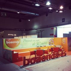"""Stand realizado para la Empresa """" BOAONDA """" en la Feria Internacional de la Moda y el Calzado MOMAD 2013 en el Recinto Ferial de Madrid IFEMA en Septiembre 2013."""