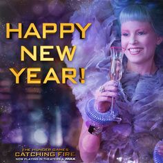 A toast to 2014! Happy New Year! #CatchingFire