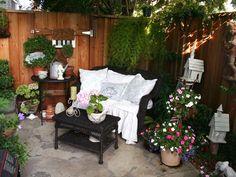 Transform small patio into a private cottage garden