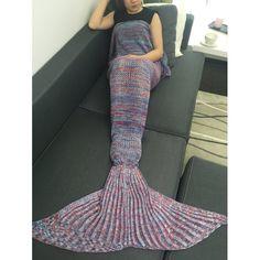 Kintted Sofa Bed Wrap Sleeping Bag Mermaid Blanket, COLORMIX in Blankets & Throws | DressLily.com