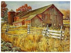 There's stories to tell about this old barn and fence