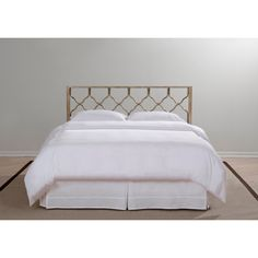$159 Full / $176.99 King - Brushed Gold Honeycomb Headboard | Overstock.com Shopping - The Best Deals on Headboards