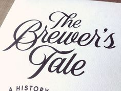 The Brewer's Tale by Simon Walker