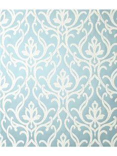 Candice Olson Wallpaper - Shimmering Details    AmericanBlinds.com #blue #ice #white