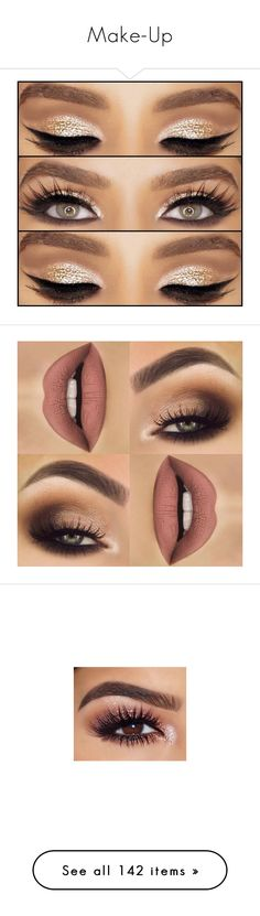 """Make-Up"" by jo-ellehadi ❤ liked on Polyvore featuring beauty products, makeup, eye makeup, eyes, lips, beauty, hair and makeup, nail care, eye brow makeup and eyebrow make"