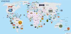 각 나라에서 가장 유명한 맥주를 한방에 정리해주는 지도(사진)
