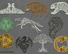 Viking Embroidery, Ribbon Embroidery, Cross Stitch Embroidery, Celtic Dragon, Celtic Art, Machine Embroidery Patterns, Embroidery Designs, Vikings, Celtic Images
