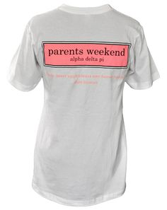 Alpha Delta Pi parents weekend shirt idea inspired by vineyard vines