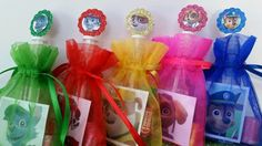 12 Paw Patrol Birthday Party Favor Bags Organza Stickers Bubbles Goody Valentine's Day on Etsy, $14.99