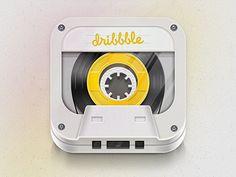 Cool Dribbble iOS icon.