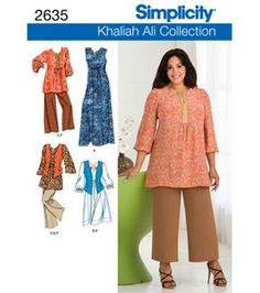 Simplicity Pattern 2635-Khaliah Ali Plus Sz Sportswear-Sz 18W-24W: Plus Size Patterns: sewing patterns: fabric: Shop   Joann.com