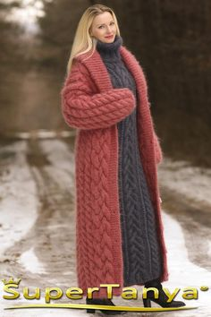 Diy Crochet Sweater, Crochet Coat, Knitted Coat, Hand Knitted Sweaters, Long Sweaters, Knitting Sweaters, Mohair Cardigan, Only Cardigan, Long Cardigan Coat
