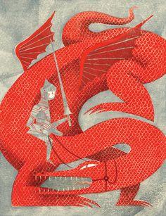 "Illustration for Planadviser Magazine's article ""taking action"" by Massachusetts-based artist and illustrator JooHee Yoon. Joohee Yoon, Saint George And The Dragon, Dragons, Communication Art, Art Graphique, Children's Book Illustration, Dragon Illustration, Illustrators, Graphic Art"