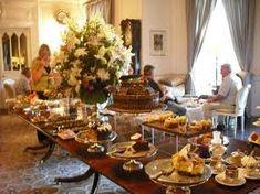 Tea time buffet tables