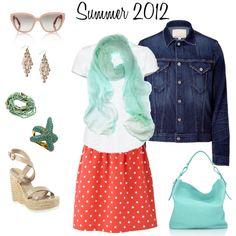 Summer 2012 Polka Dot Punch, created by #carlabean on #polyvore. #fashion #style