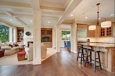 I <3 coffered ceilings. <3 them.