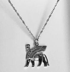 Sterling Silver Assyrian Lamassu Pendant