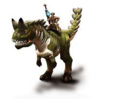 Play for free at DinoStorm.com -- Dino Storm -- Key Artwork 3 --- Cowboys, Dinosaurs, and laser guns!