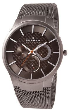 Hot Watches for Men - Skagen Watch Men's Titanium Mesh Bracelet Watch