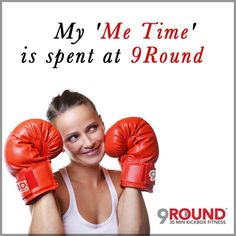 """It's FRIDAY and this post goes out to ALL of our DEDICATED 9Rounders!  Seriously we can't think of a BETTER way to de-stress and clear your mind than a trip to 9Round!  9Round is the BEST place to get away and the BEST place to literally """"punch away"""" your stress!    And we are sure that ALL of our 9Rounders can agree... NOTHING says 'Me Time' like a 9Round workout!  So let's start the weekend off right!  Let's go get some 'Me Time'!  #9Round #9Rounder #MeTime #GetFit #TGIF"""