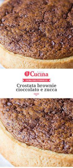#Crostata brownie #cioccolato e #zucca della nostra utente Alessia. Unisciti alla nostra Community ed invia le tue ricette!