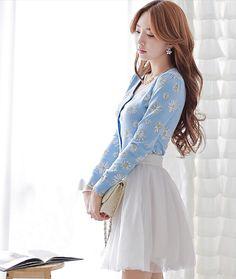 Morpheus Boutique  - Blue Floral Knit Long Sleeve Knit Sweater , CA$82.04 (http://morpheusboutique.com/new-arrivals/blue-floral-knit-long-sleeve-knit-sweater/)