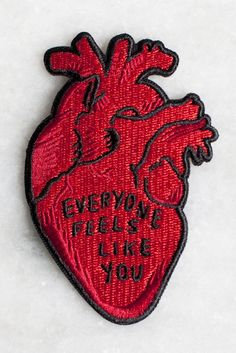 Everyone Feels iron-on patch   Stay Home Club