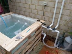 Above ground plunge pool