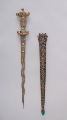 Dagger with Sheath, century. The Metropolitan Museum of Art, New Y. Fantasy Dagger, Fantasy Weapons, Pretty Knives, Cool Knives, Swords And Daggers, Knives And Swords, Dr Tattoo, Tattoos, Knife Aesthetic