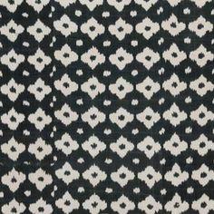 "Madeline Weinrib ""Fiore Ikat"" in Black & White – Revitaliste Ikat, Upholstery, Black And White, Fabric, Tejido, Tapestries, Tela, Upholstered Furniture, Black White"
