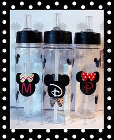 Mickey Mouse inspired Personalized 22oz plastic water bottles/tumbler/Wine-to-Go