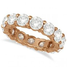 Diamond Eternity Ring Wedding Band 18k Rose Gold (6.00ct). I think it's time to wear a grownup ring...