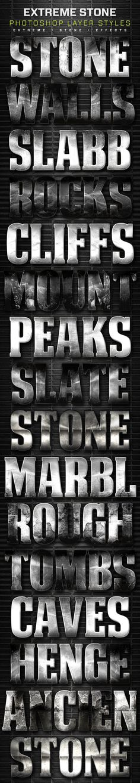 16 Extreme Stone Layer Styles Volume 1