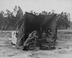 Do you recognize the lady in the tent? She's from a famous TIME photograph!
