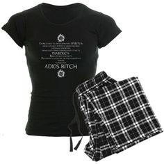 Amazon.com: Supernatural Exorcism Women's Dark Pajamas Funny Women's... ($40) via Polyvore
