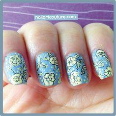 ! ★Nail Art Couture★ !: Vintage Floral Nail Art