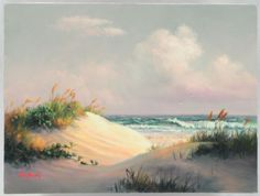 Dalhart Windberg Originals   Dalhart Windberg Beach Scene Oil Painting